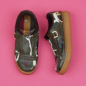 L.A.M.B camo slip on sneakers